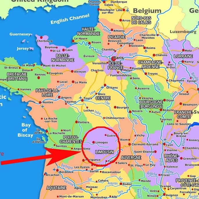 Where we are located in New Aquitaine, France.