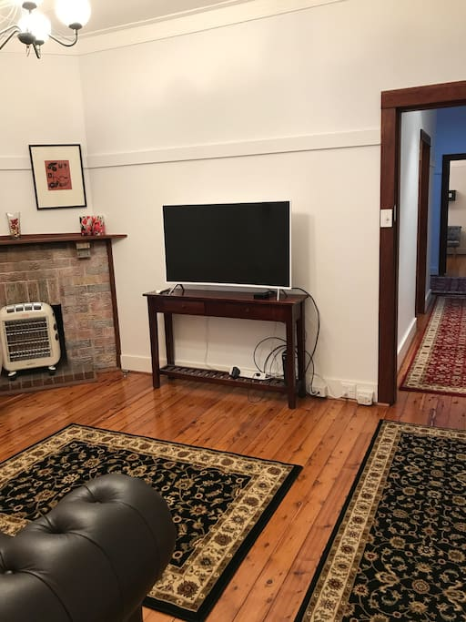 Living room, password for WIFI is next to router