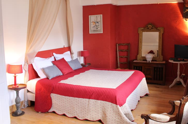 Spacious B&B double bedroom in historical house