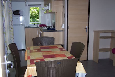 Mobil-home forme chalet - Arces