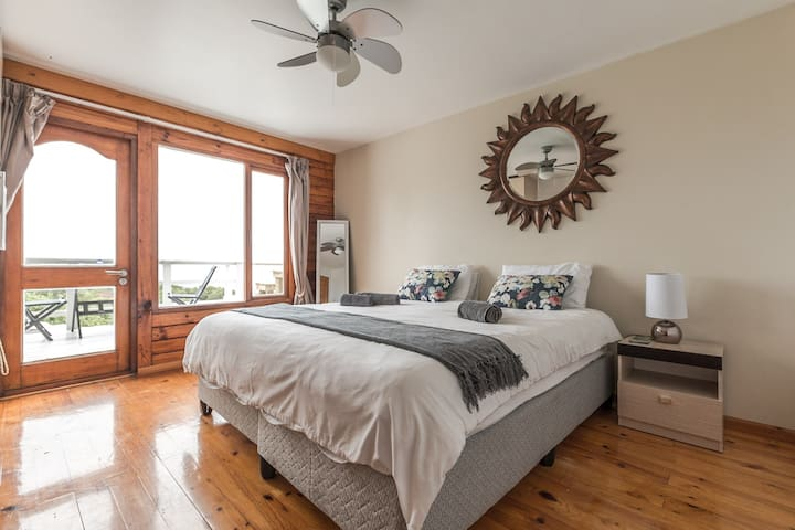 Panoramic view and on the beach double room