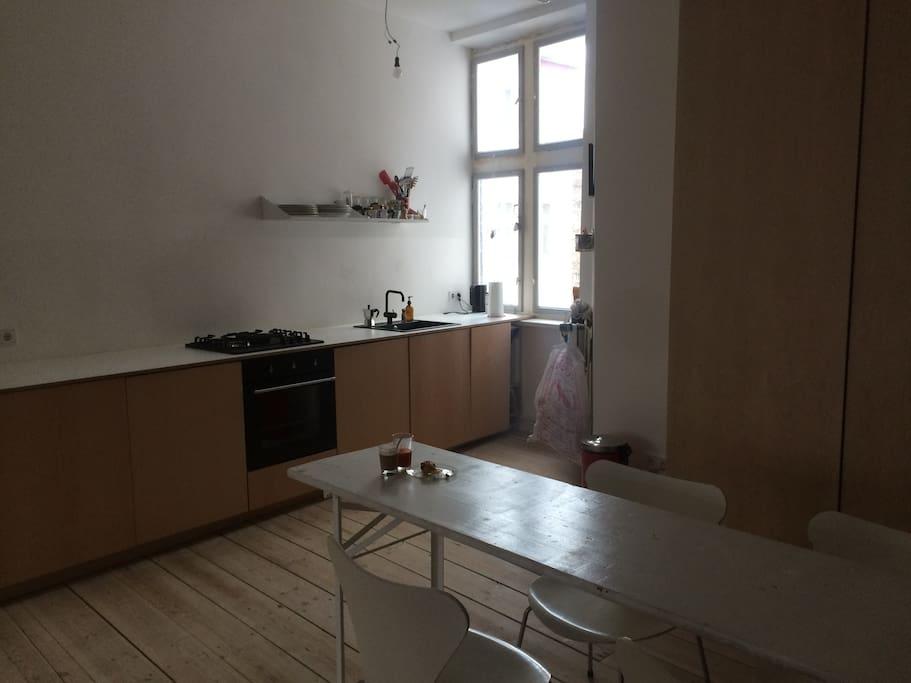 open spacious kitchen