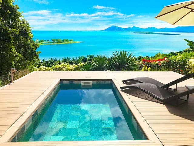 ★ Sea & Golf View★ with Private Pool on Le Morne