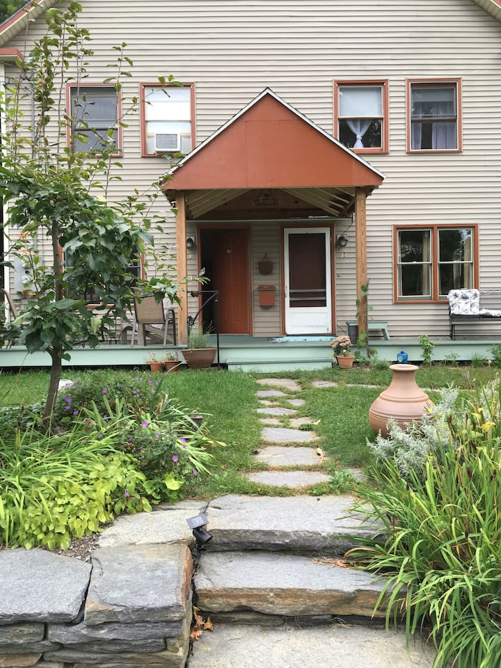 The house is in a safe, friendly neighborhood convenient to downtown Brattleboro and to the highway.