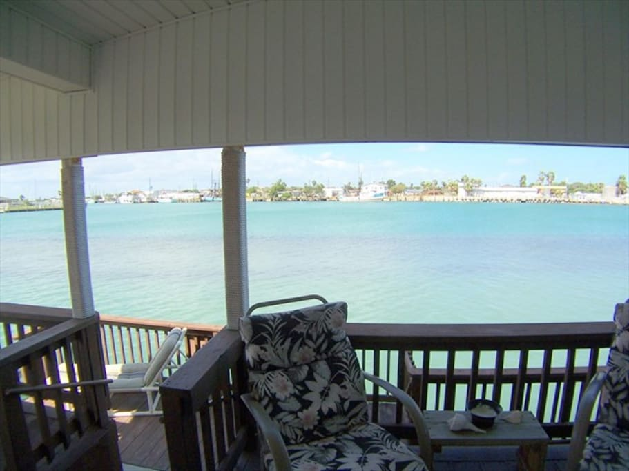 View of Intercoastal waterway from deck-watch the dolphins swim by or fish from your own private dock!