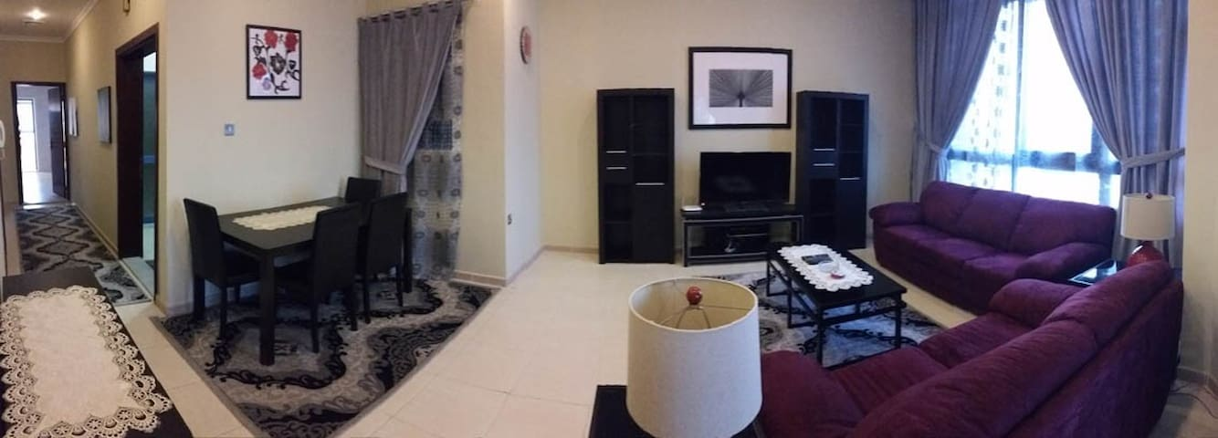 spacious 2 bedroom with balcony seaview
