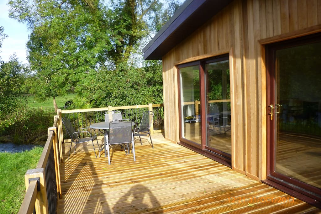 Large decking area with funiture