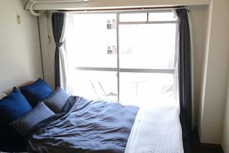 Downtown cozy 1 room w/ balcony. Rent a car - Kagoshima-shi - Apartemen