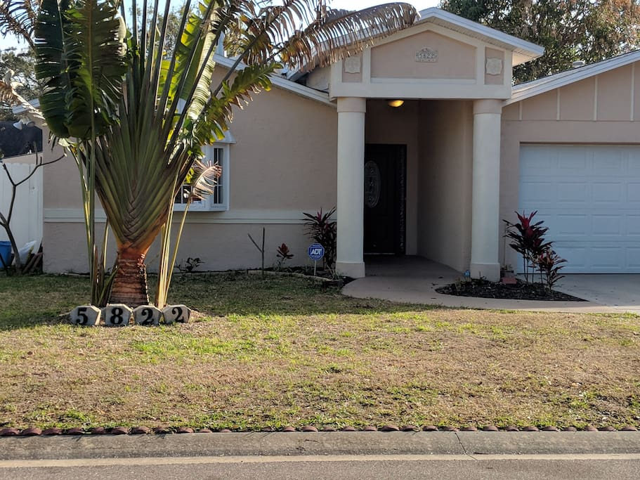Front of the house for your St Pete area, Gulf Beaches stay!