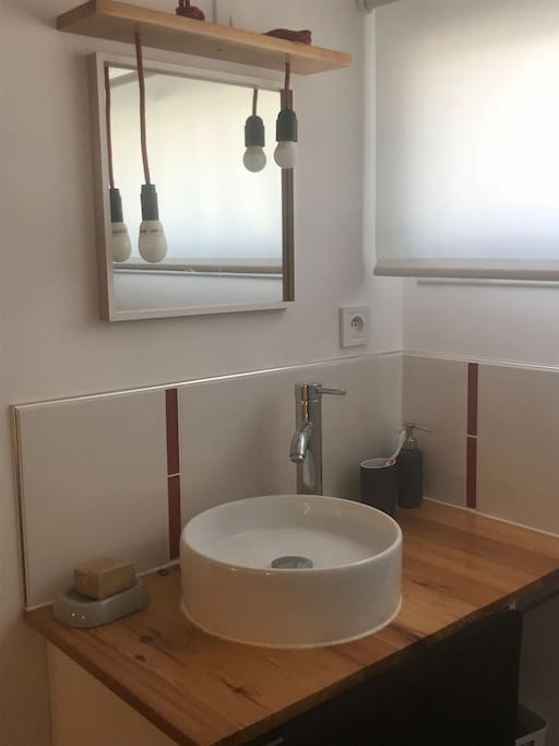 Coin salle de douche