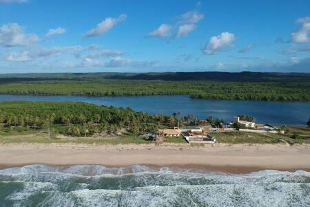 Ecological house beach at Siribinha! Paradise!