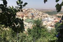 Vue de la ville de Moulay idrisse zerhoun,  trop beau et unique.