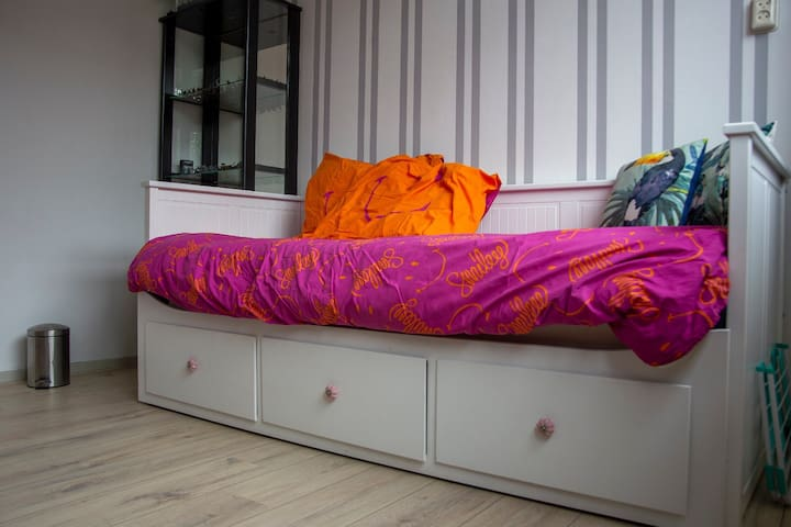 Your own cosy room near Schiphol and Amsterdam.