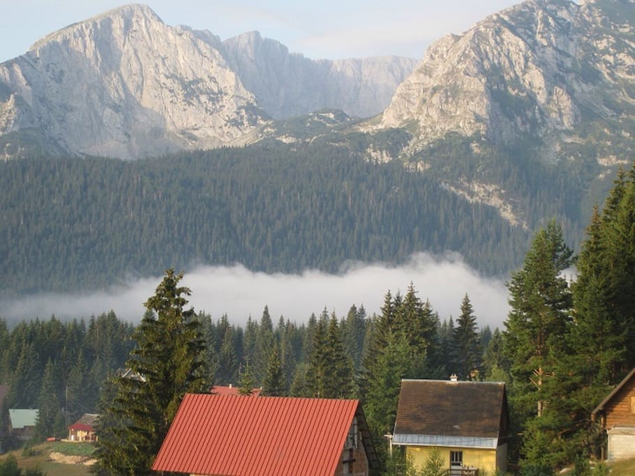 Superb view of the Durmitor Mountain Range from the Apartment