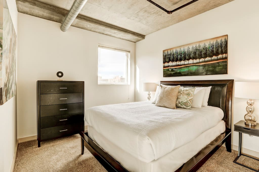 Second Bedroom at Premier Lofts by Stay Alfred