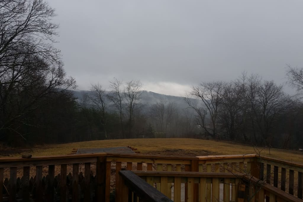 Foggy afternoons from the back deck can be just as beautiful as sunny days