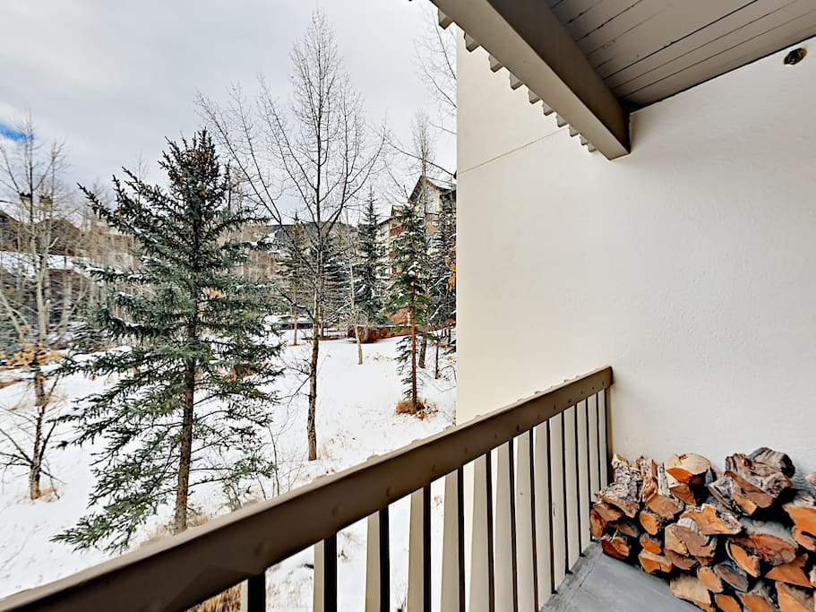 Take in the lovely scenery from your private balcony.
