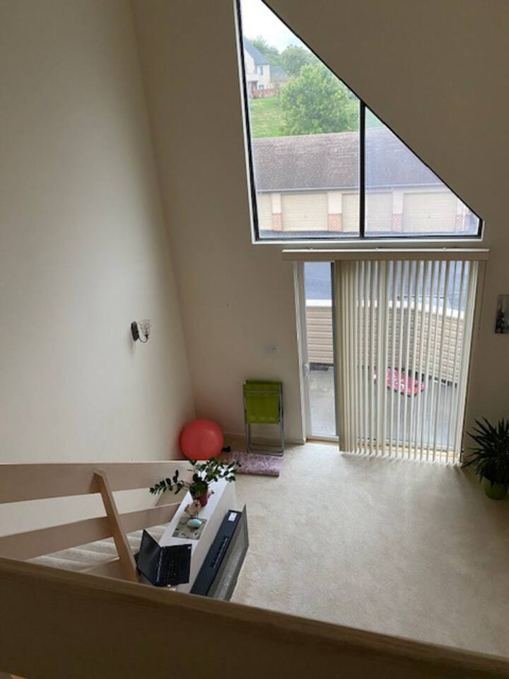 Furnished Bedroom with full Bathroom,computer room