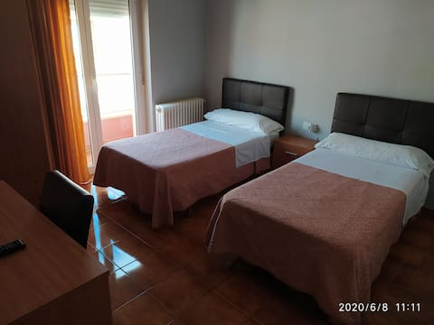 Habitacion doble 1 o 2 camas
