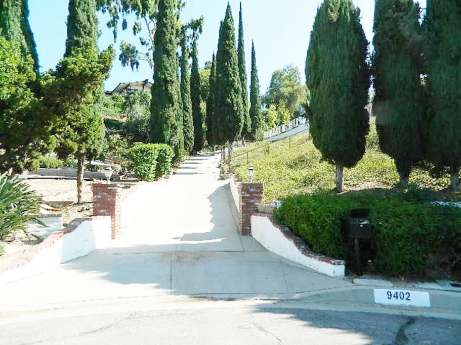 Driveway going uphill