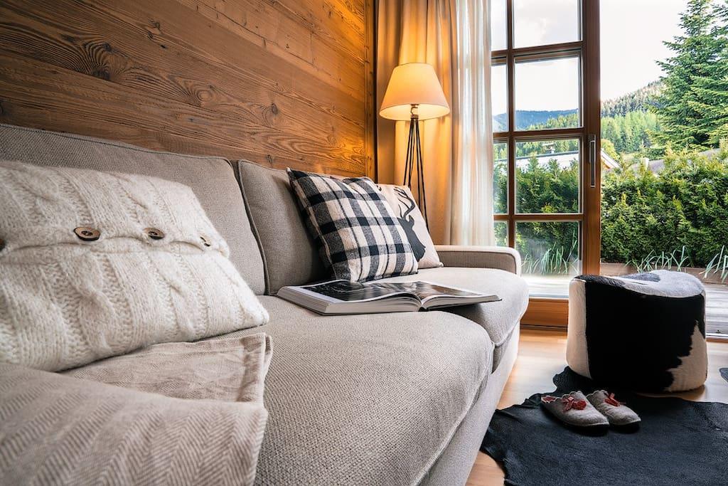 Couchlandschaft für gemütliche Stunden