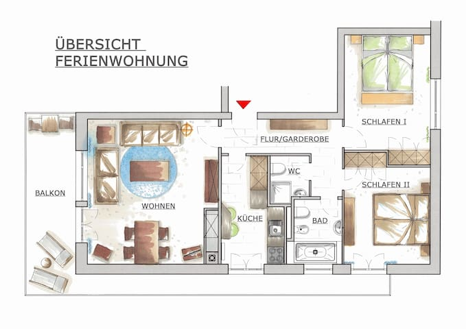 Choucas A, Ski in and out, - Montana - Apartment