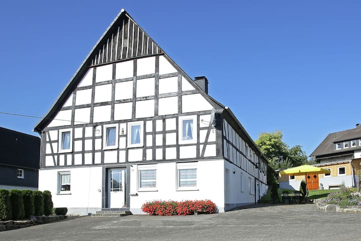 Apartment in the Sauerland region on a farm with animals and private terrace