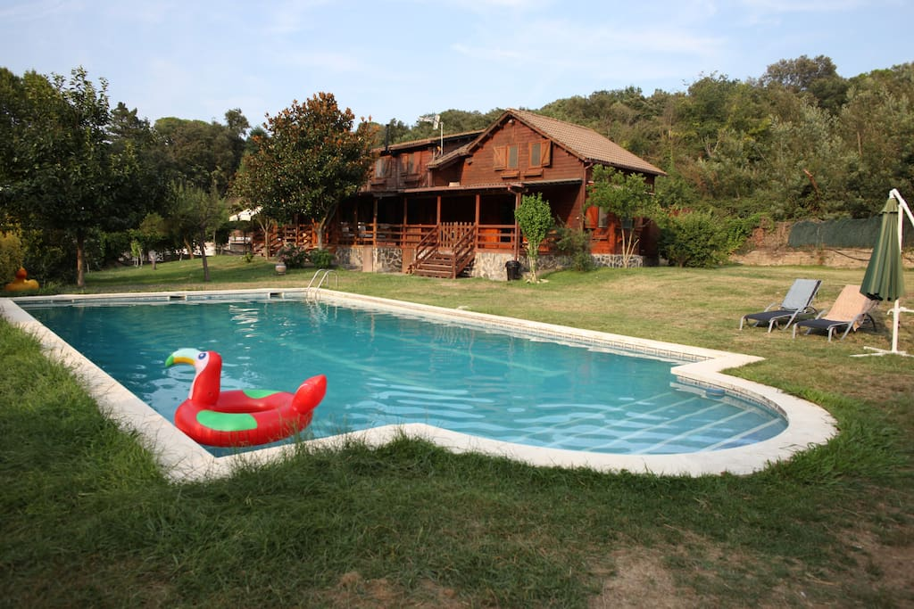 View of the Pool and the Chalet