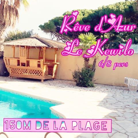 Rêve d'Azur, la villa Kewilo à 150m de la plage