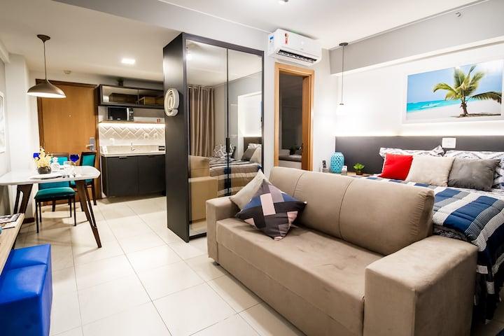 5⭐- Smartflat - Lindo, Moderno & Completo - Centro