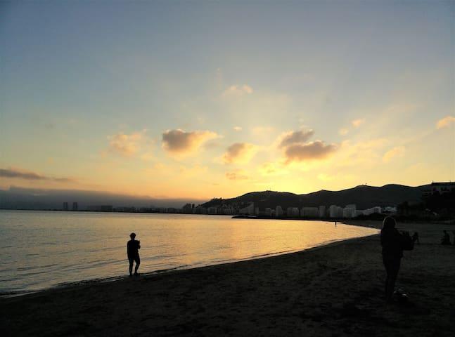 Puesta de sol desde nuestra playa