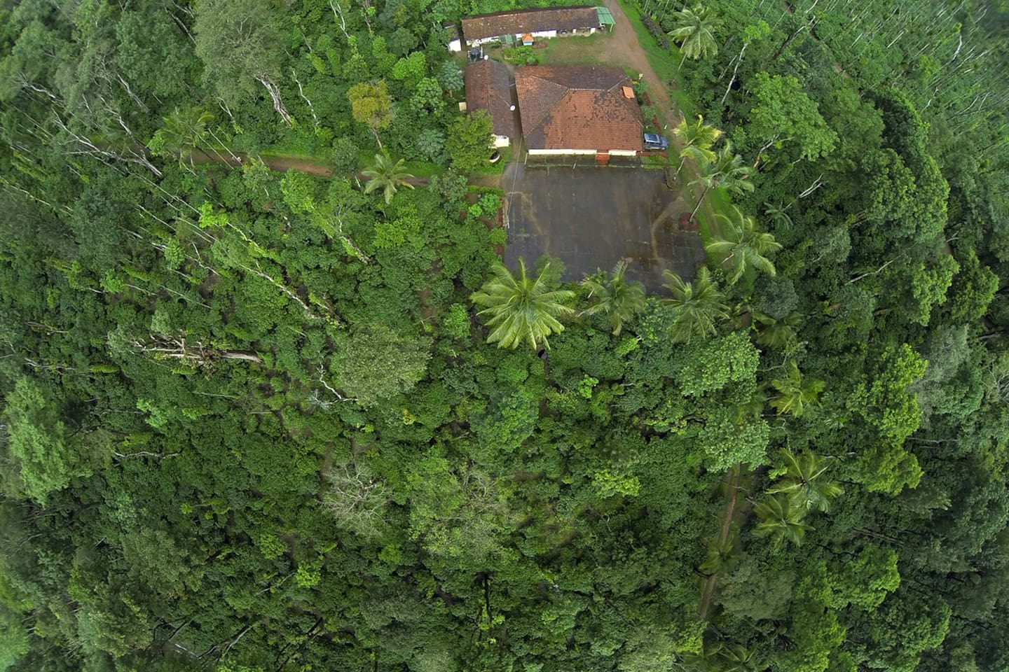 Aerial view of Estate & Reception Bungalow