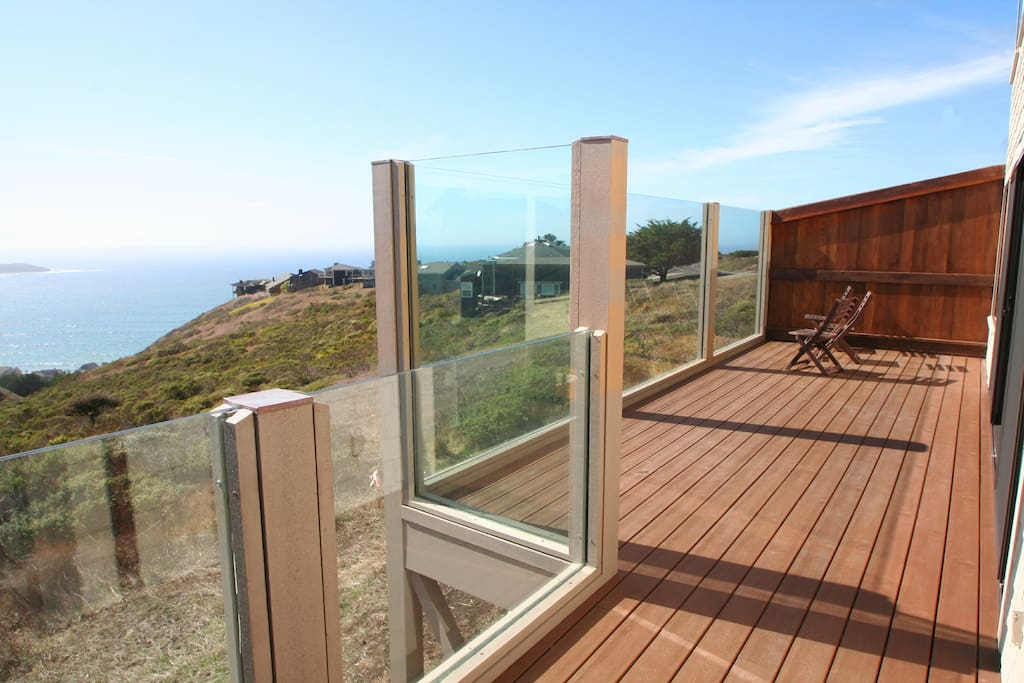 Huge new deck with a great wind break!