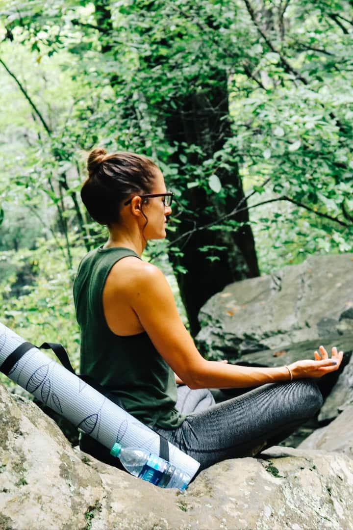 Meditation near the waterfall