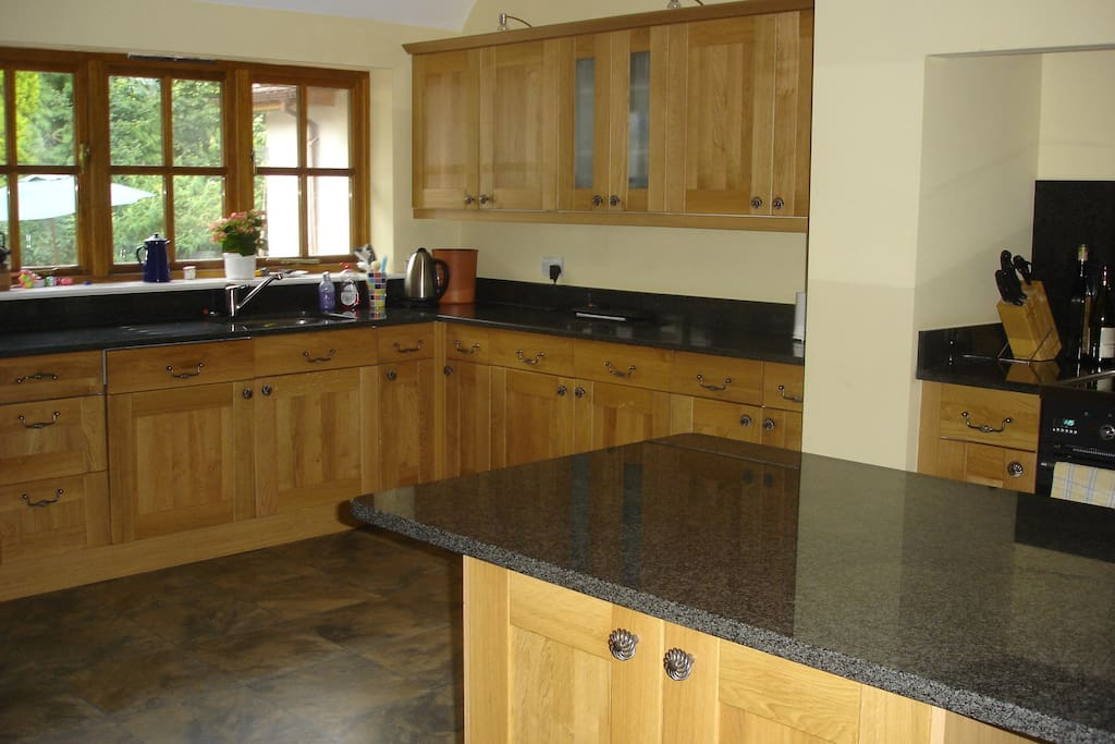 Shared use of large kitchen with triple aspect