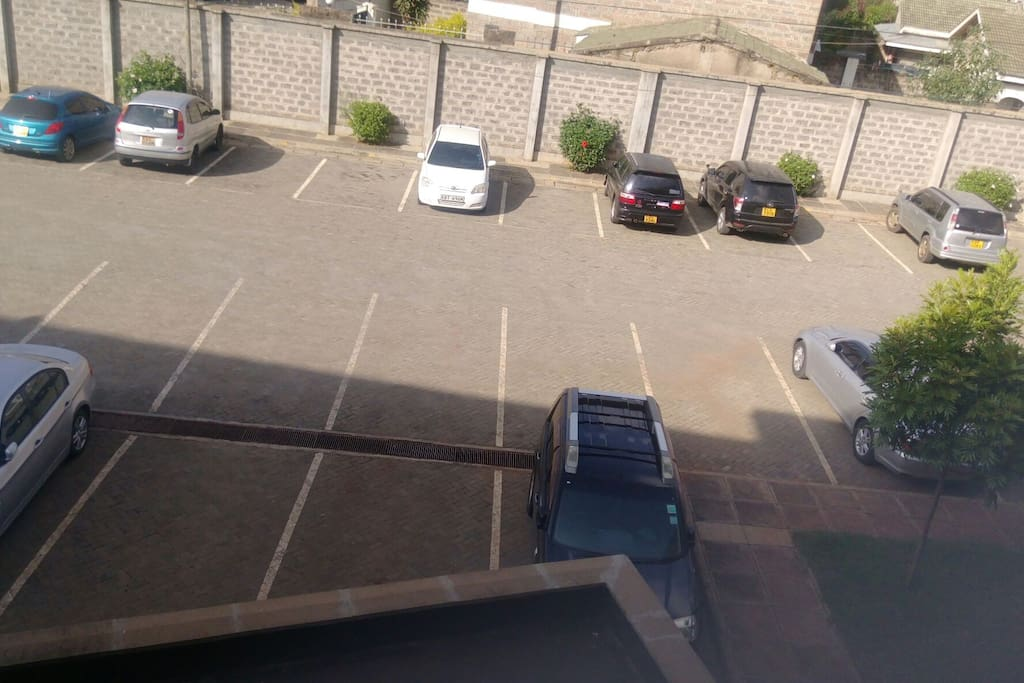 parking lot as seen from second floor.