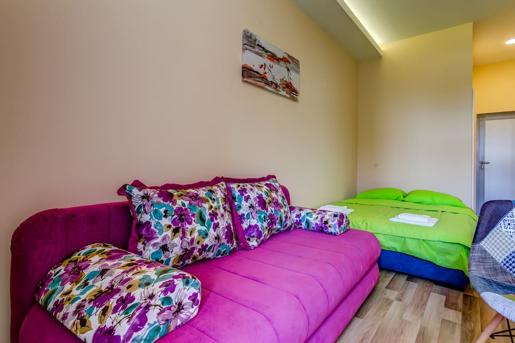 There is space for accommodation of up to 4 people at our apartments.