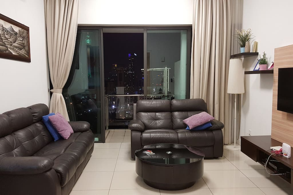 Sofa with KLCC view