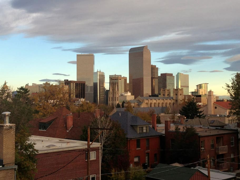 View of downtown Denver from the balcony