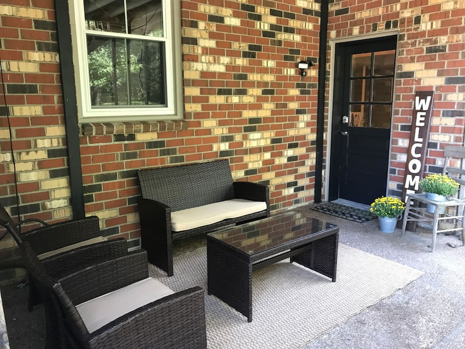 Your very own private outdoor patio to relax, drink coffee or cocktails on.