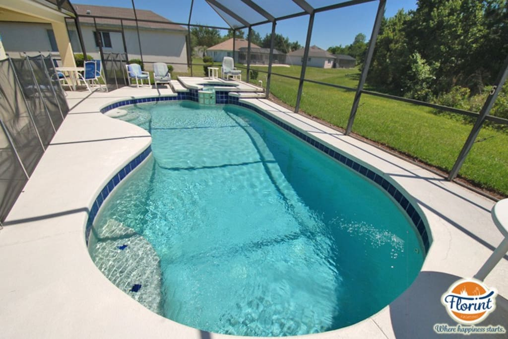Nice large crystal blue pool to enjoy the Florida sunshine in your Indian Point vacation rental home.