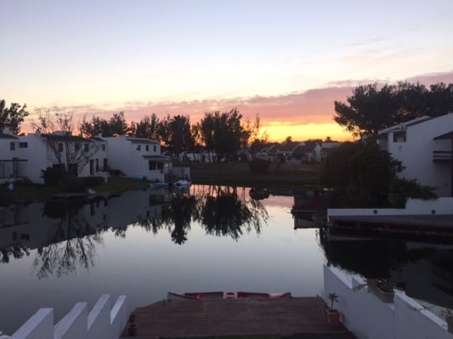 Sunrise over a very still Marina