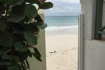 Access to beach from garden