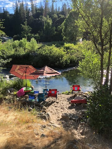 River front Cabin on the Middle Fork of Yuba River