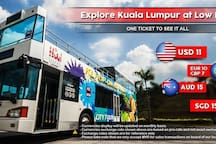 KL Hop-on Hop-off is a free and easy city tour bus costing USD$ 11 whole day tour (9.00am - 8.00pm)
