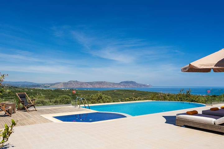 Villa Sugar offers unspoiled views of the surrounding landscape.