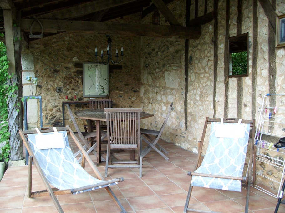 terrasse couverte côté ouest