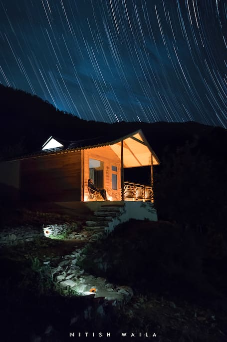 Candle-lit home under the star-lit skies. PC Nitish Waila