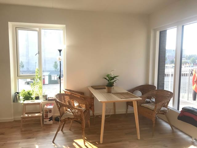 Private room in modern Teglholmen apartment