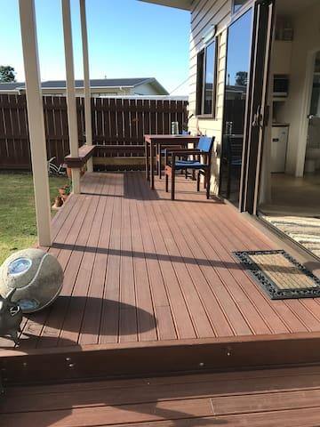Spacious sunny deck
